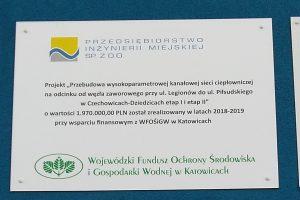 Przebudowa wysokoparametrowej kanałowej sieci ciepłowniczej na odcinku od węzła zaworowego przy ul. Legionów do ul. Piłsudskiego w Czechowicach-Dziedzicach etap I i etap II